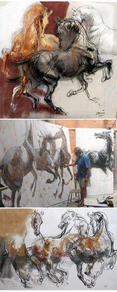 Jean-Louis Sauvat    http://ad-mary44.over-blog.com/2014/06/jean-louis-sauvat-et-le-monde-equestre-de-bartabas.html