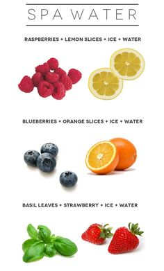 SPA Water Recipes! Make your water tastier and healthier all at once.