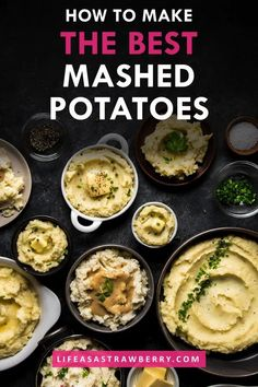 All the tips and tricks you need to make the best stovetop mashed potatoes! Learn which type of potato to use: russet, red, white, yellow, or yukon gold. Mashed potato recipes with a hand mixer, masher, or ricer. Learn whether you need to peel potatoes for mashed potatoes. Perfect homemade mashed potatoes for Thanksgiving, Christmas, and holiday entertaining!