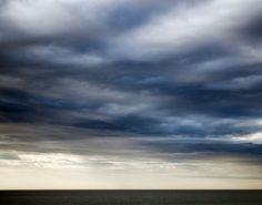 Stormy Ocean Sky, Beach Photography, Coastal Wall Art, Blue Room Decor, Fine Art…