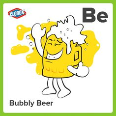 Bubbly Beer: a beverage that, if eagerly opened or poured, may quickly surge up and spill everywhere. #PiMonth #StainPins