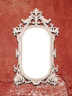 blank golden baroque metal picture frame