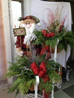 Ribbons and Bows, picks and sprays are all great ways to add a lot with out doing a lot. Sprays, Ribbons, Christmas Wreaths, Bows, Texture, Holiday Decor, Color, Home Decor, Arches