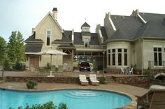 like portico and pool but not round room. Ramboulett | Home Plans