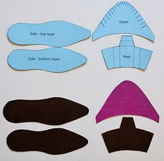 make a shoe pattern to cut out the clay slabs