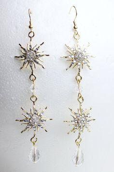 Phantom of the Opera Earrings Gold by NerdyDesigner on Etsy, $35.00