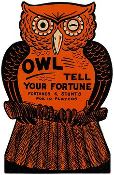 Owl Tell Your Fortune.....Vintage Halloween Party Game