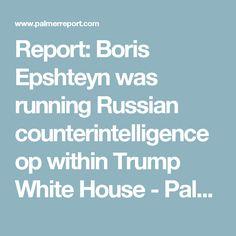 Report: Boris Epshteyn was running Russian counterintelligence op within Trump White House - Palmer Report