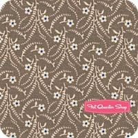 Olde Townhouse Taupe Sprigs and Blooms Yardage <br/>SKU