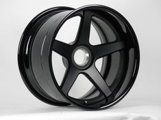 Center Lock Forgeline CF3C with Satin Black Center and Gloss Black Rims