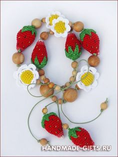 Strawberry sling necklace