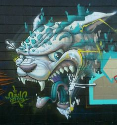 Cool looking tiger - street art
