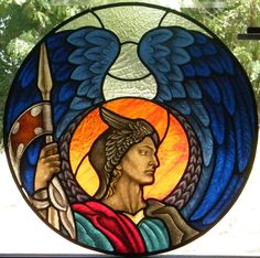 Vetrata-Artistica-San-Michele-Angelo Stained Glass Angel, Stained Glass Windows, Stained Glass Projects, Stained Glass Patterns, Kiln For Sale, Archangel Michael, St Michael, Courses, Cherub