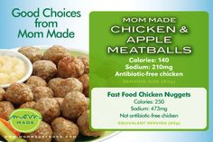 chicken nuggets, have 10 Mom Made Chicken & Apple Meatballs and almost ...