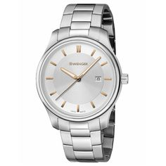 Wenger 01.1421.105 Women's City Classic Silver Tone Dial Stainless Steel Bracelet Watch