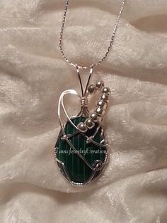 African Jade (Natural) Cabochon Wire Wrapped Pendant    https://www.etsy.com/shop/TamsJewelryCreations