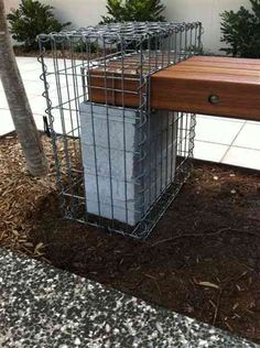 Gabion Bench Seat Defined Style (1)