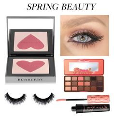 """""""#SpringBeauty"""" by sophiehill2209 ❤ liked on Polyvore featuring beauty, Burberry, Too Faced Cosmetics and Benefit"""