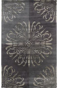 powder room rug? this echos the wallpaper pattern and feeling