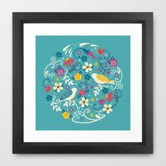 Garden+Birds+Framed+Art+Print+by+Anna+Deegan+-+$33.00
