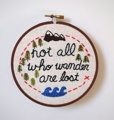 not all who wander are lost cross stitch pattern - Google Search