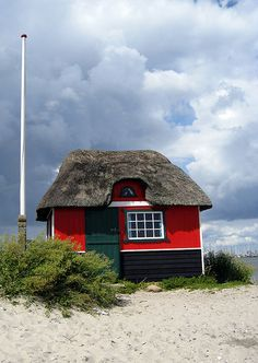 The Little Red Beach House. Marstal Island, Denmark