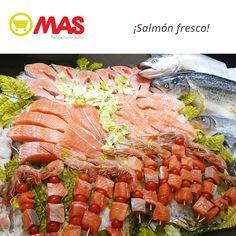Salmón fresco: te lo preparamos en lomos, rodajas o brochetas para que lo disfrutes como más te guste!  #BajoEnCalorías #Frescos