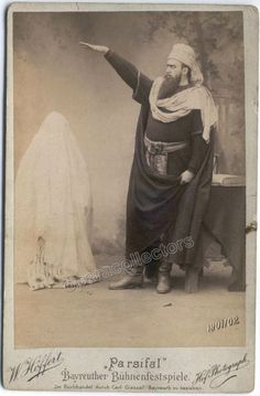 Schutz, Hans - As Klingsor in Parsifal cabinet photo 1901-02