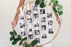 Found on Style me Pretty (http://www.stylemepretty.com/2015/04/23/diy-floral-photo-hoop/) - Pinterested @ http://wedspiration.com.