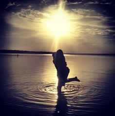 Beautiful sunset lake picture of my best friend and her boyfriend. Love this one. Couples photo, engagement???