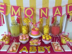 68 New Ideas For Birthday Brunch Party Pink Lemonade Birthday Brunch, First Birthday Parties, Birthday Ideas, 16th Birthday, Diy Birthday, Pink Lemonade Party, Pink Lemonade Baby Shower Ideas, Lemon Party, Party Drinks