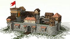 A medieval castle made in minecraft