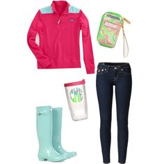 Cute rainy day outfit - This is perfect for #vancouver weather