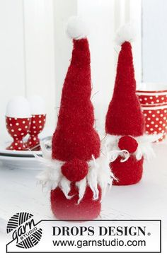 DROPS Extra - Free knitting patterns and crochet patterns by DROPS Design Christmas Gnome, Christmas Makes, Handmade Christmas, Christmas Stockings, Christmas Yarn, Christmas Knitting Patterns, Knitting Patterns Free, Free Knitting, Free Pattern