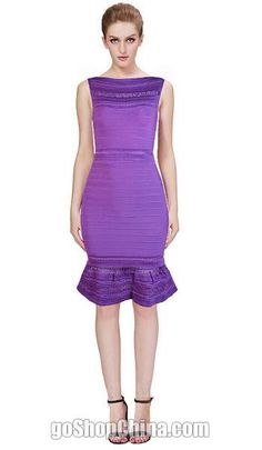 Sexy Celebrity Bandage Dresses Boat neck Purple sale cheap from China. Fast shipping worldwide! Check more styles on our site.