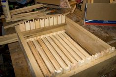 Making a frame jig. MyOldTools.com -- Beekeeper's Pages