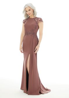 Fit and Flare Evening Gown with Beading on Crepe Mermaid Evening Gown, Mermaid Gown, Evening Dresses, Bride Groom Dress, Bride Gowns, Satin Formal Dress, Formal Gowns, Formal Wear, Manu Garcia