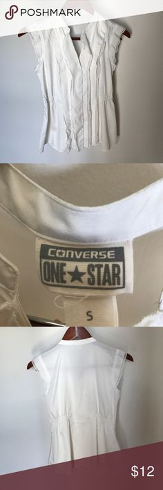 Converse One Star white top Perfect condition. Worn once converse one star Tops Blouses