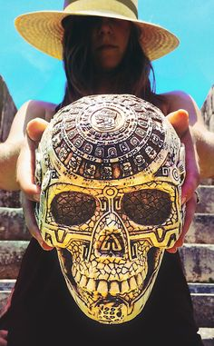 Mayans on our mind. Take home a souvenir—like a skull etched with the Mayan calendar—from Chichen Itza, one of the mythical great cities of Mexico's past.