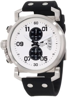 Vestal Men's OBCS004 USS Observer Chrono Silver White Black Chronograph Watch