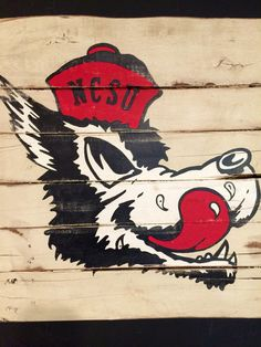 North Carolina State Wolfpack Sign / NC State by PalletsandPaint
