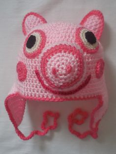 This pig style crochet hat pattern is written in English and American crochet terms with photographic instructions as well, Easy to follow and fits a child age 2-3.although can be made for an older child by changing the hook size