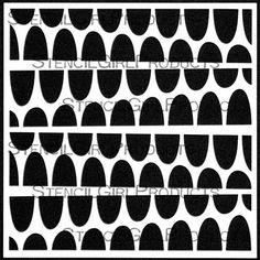 StencilGirl Talk: Doodlicious Distractions with Lizzie Mayne's Half Moon Slant Stencil