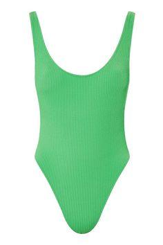 Wavy Rib Scoop Swimsuit