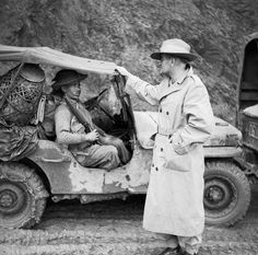 Stubbs A (Sgt) -- Lieutenant General Sir William Slim, commanding British Fourteenth Army in Burma, chatting with a Gurkha rifleman, November 1944. -- High quality art prints, canvases -- Imperial War Museum Prints