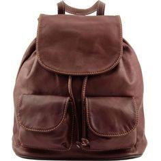 sac dos en cuir petit modle marron