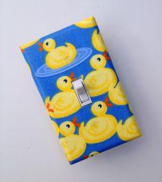 Rubber Ducky Bathroom, Duck Bathroom, Bathroom Kids, Small Bathroom, Switch Plate Covers, Light Switch Plates, Light Switch Covers, Golden Retriever Art, Yellow Bathrooms