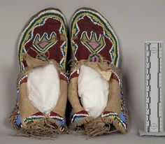 Record Boy's Costume: Moccasins | Collections Search Center, Smithsonian Institution