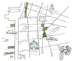 Naftali Group | Hand Drawn Map For The Shephard | 275 West 10th Street | Luxury Apartments in The Hear of The West Village