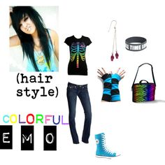 """""""colorful emo"""" by foreverbroken on Polyvore"""